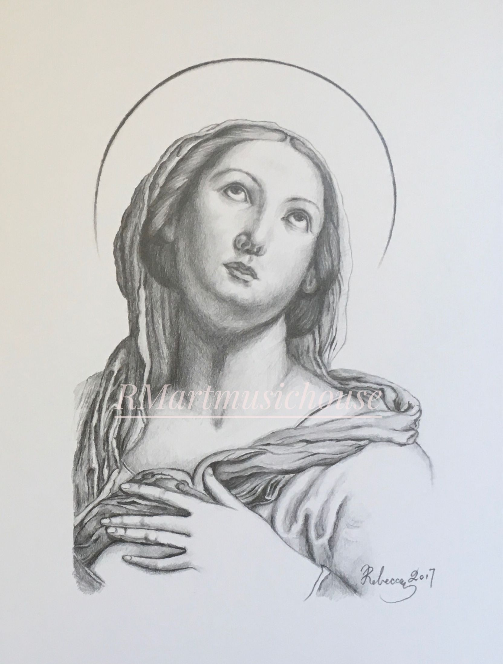 9 x 12 inches pencil drawing religious pencil drawing en 2019