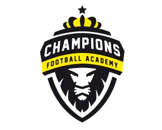 Champions Football Academy By Carlitoone Football Logo Design Football Logo Soccer Logo