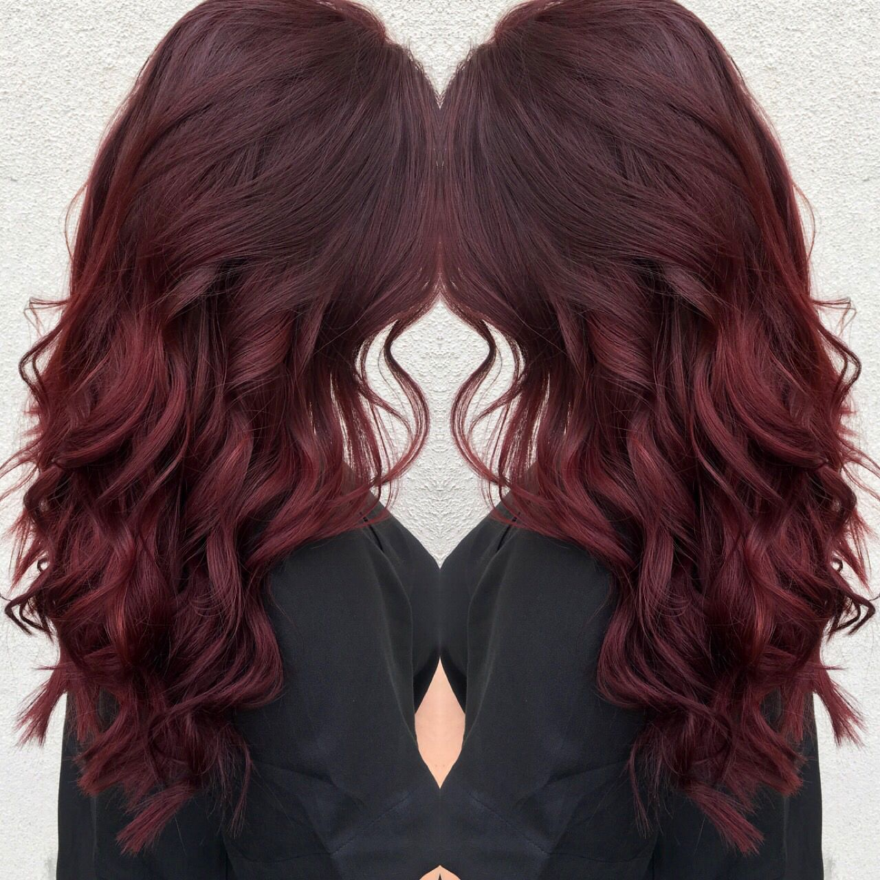 Wine Balayage Hair