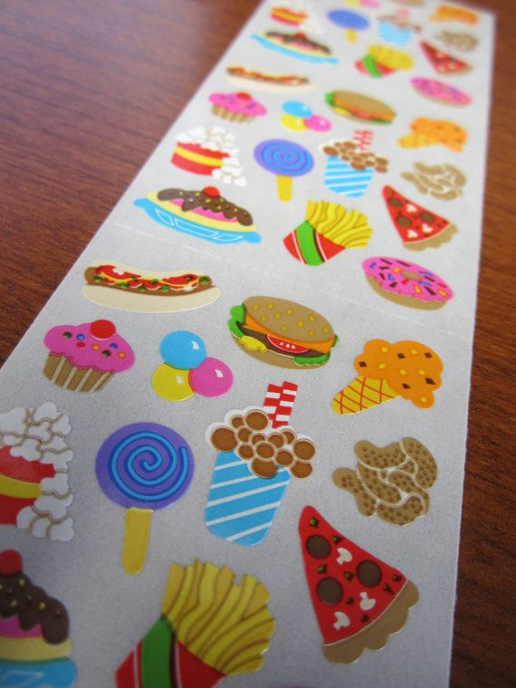 Sandylion vintage 80s very rare fuzzy brown back ice cream cones stickers
