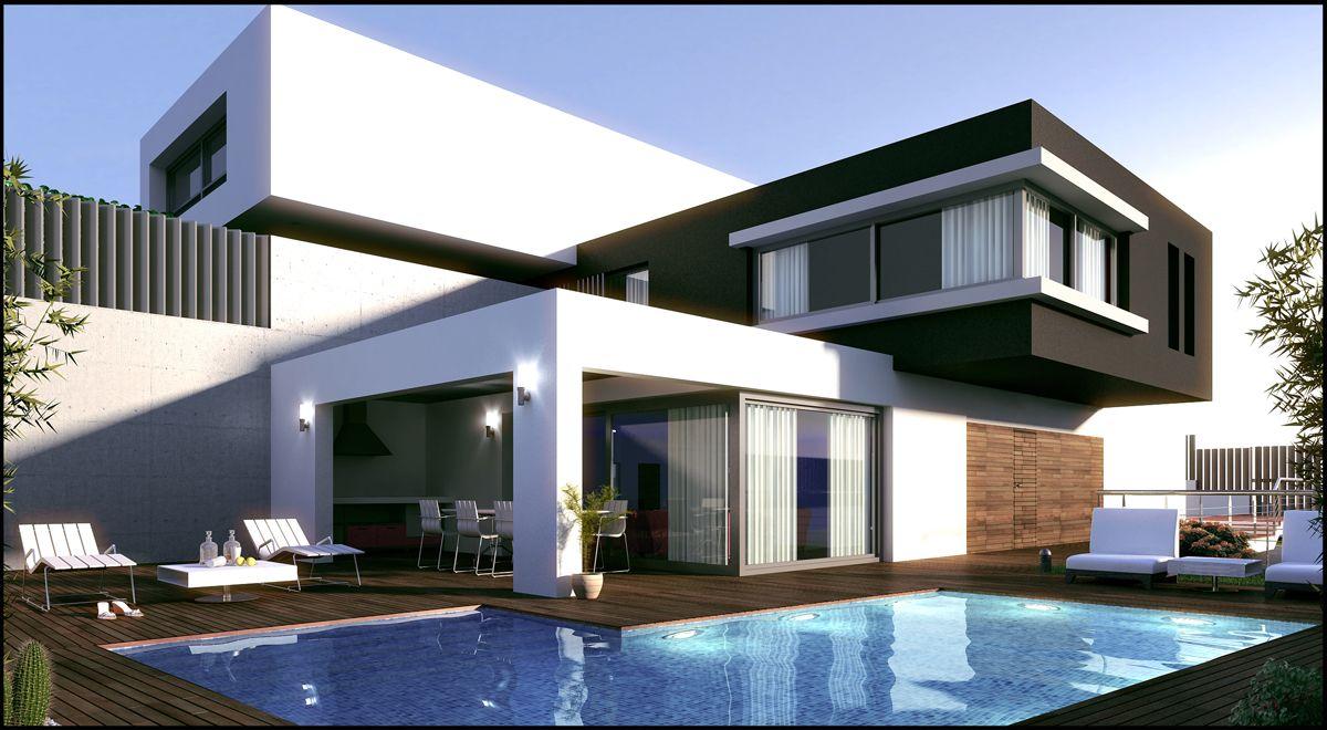 Casas modernas arquitectura pinterest fachada de for Casas modernas mexicanas
