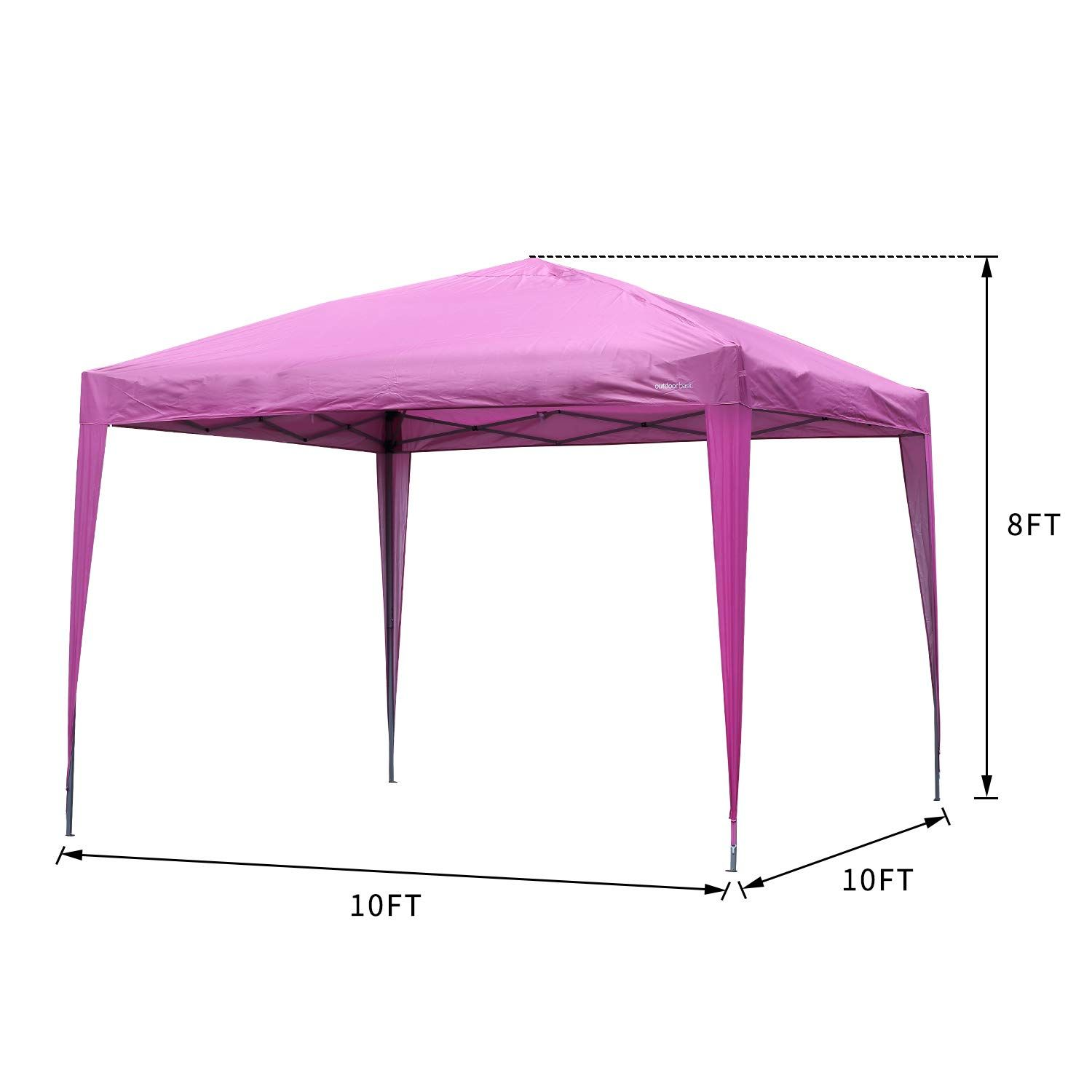 Outdoor Basic 10 10 Pop Up Canopy Party Tent Instant Gazebos With 4 Removable Sidewalls Pink In 2020 Party Tent Gazebo Canopy