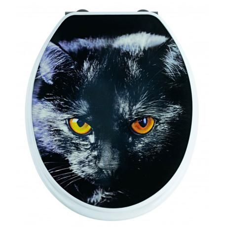 The Cat 3d Design Mdf Toilet Seat From Wenko Made Of High