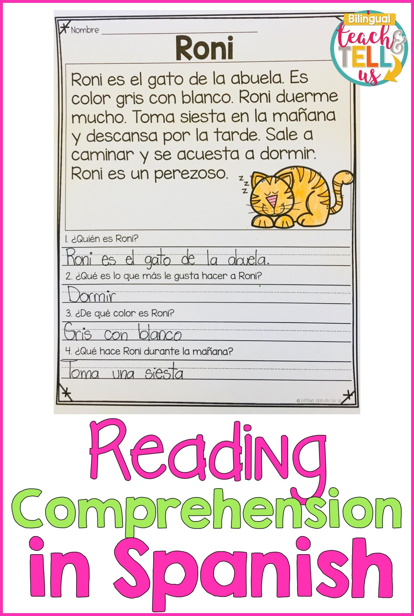 Reading Comprehension Passages In Spanish For First Grade Studen First Grade Reading Comprehension Spanish Reading Comprehension Reading Comprehension Passages
