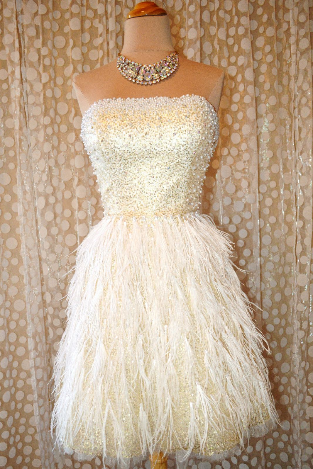 Jovani Short Feather Homecoming Evening Pageant Prom Formal Bridal Gown Dress 12 White Cocktail Dress Shop Cocktail Dresses Cocktail Dresses Online