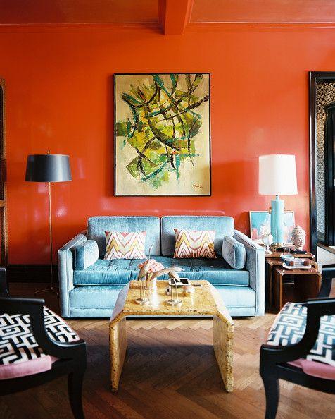 Living Room Photos Living Room Orange Orange Rooms Lacquered Walls