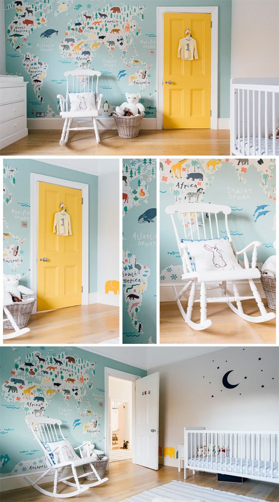 safari kids map mural wallpaper in 2019 nursery ideas pinterestthis sweet pastel toned world map is perfect for your little one\u0027s nursery or bedroom, featuring illustrated animals from all over the world in a cute and