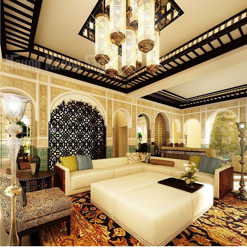 Modern Moroccan Living Room That Exudes Luxury And Majesty!