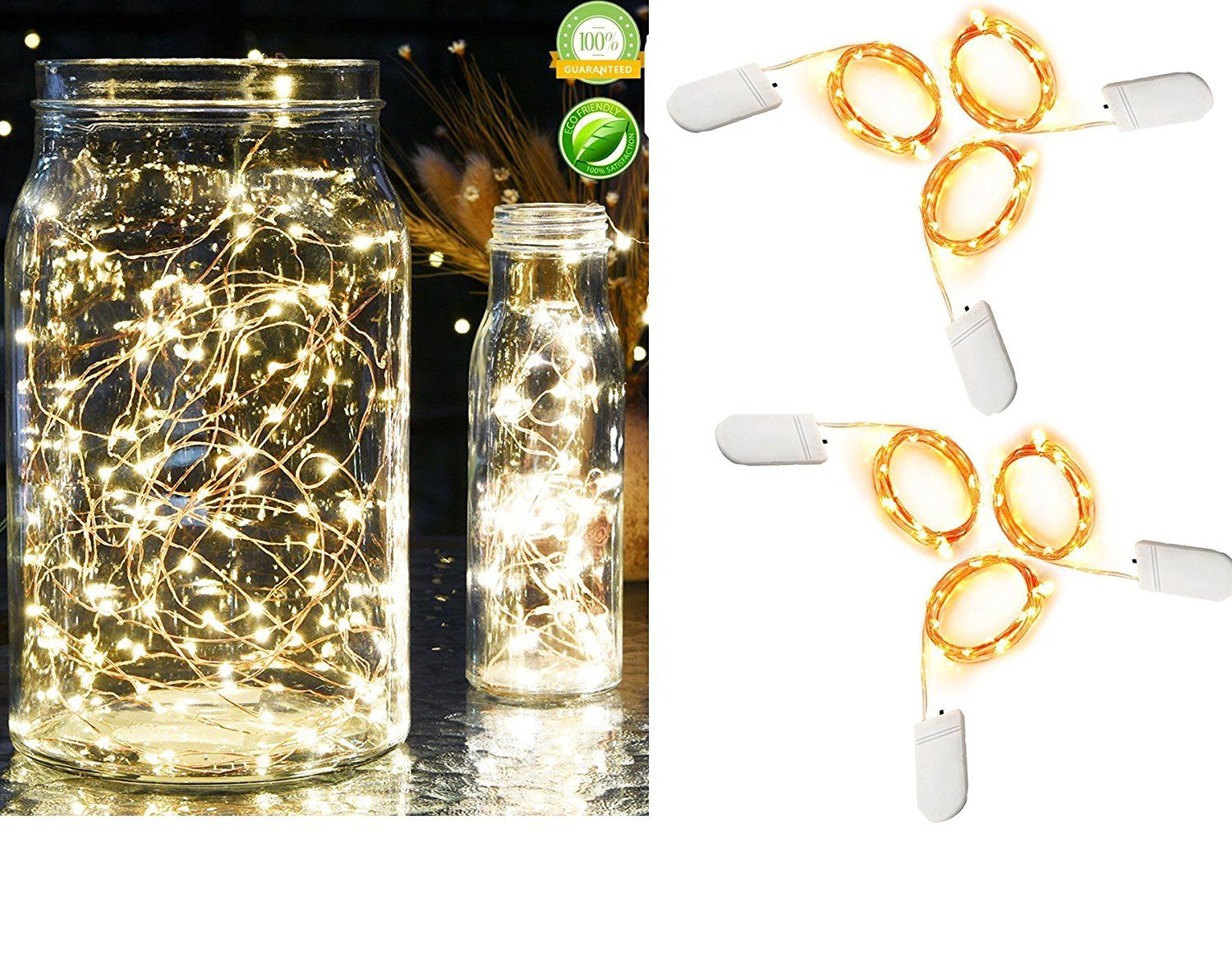 Amazon.com: Pack of 6 Sets Fairy Lights Battery Operated Firefly ...