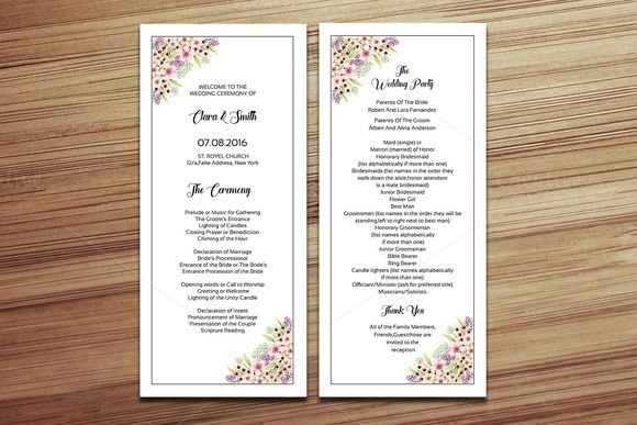 Wedding Program Template Creativework  Templates  Templates
