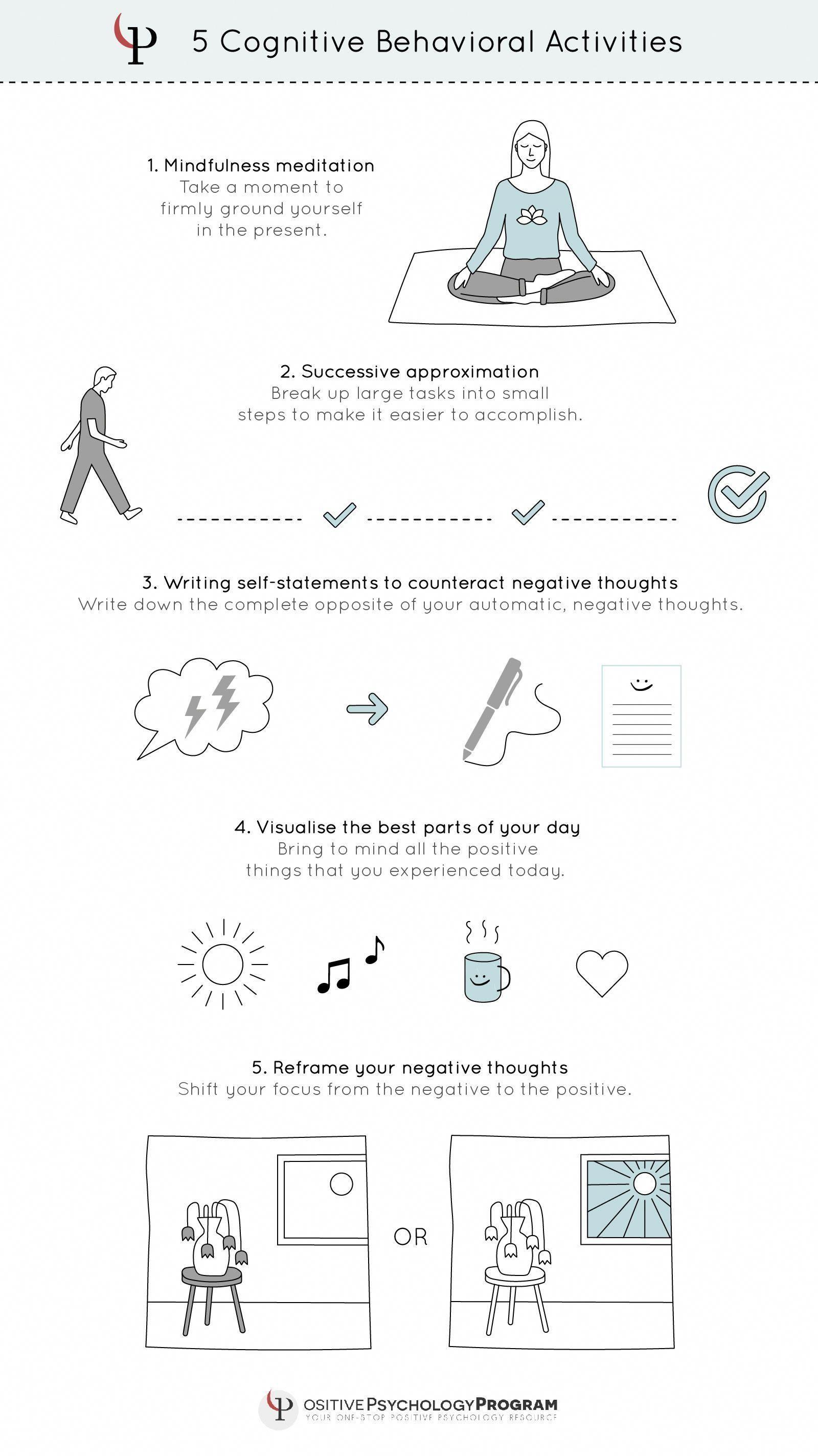 5 Cognitive Behavioral Activities Psychologicalimages