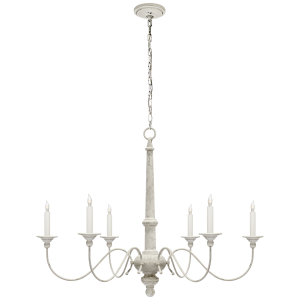 For Visual Comfort S Studio Vc Casual Country Small Chandelier In Belgian White At Foundry Lighting