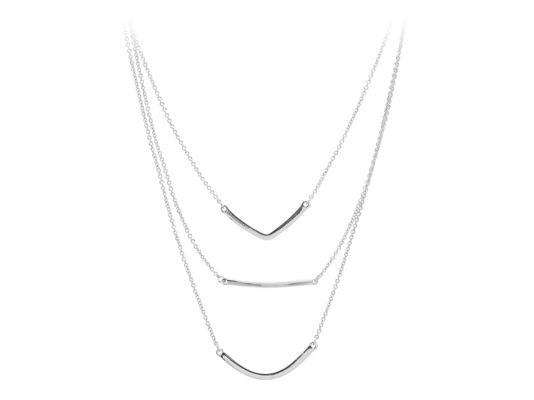 Women's Jem & Jules Palatine Layered Pendant Necklace - Silver