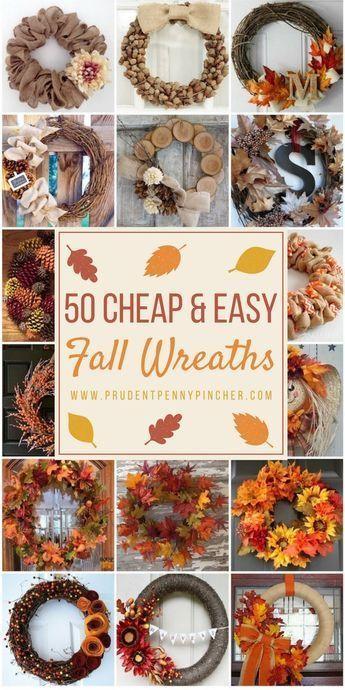 Photo of 50 günstige und einfache DIY Herbstkränze – DIY-Projekte zu verkaufen