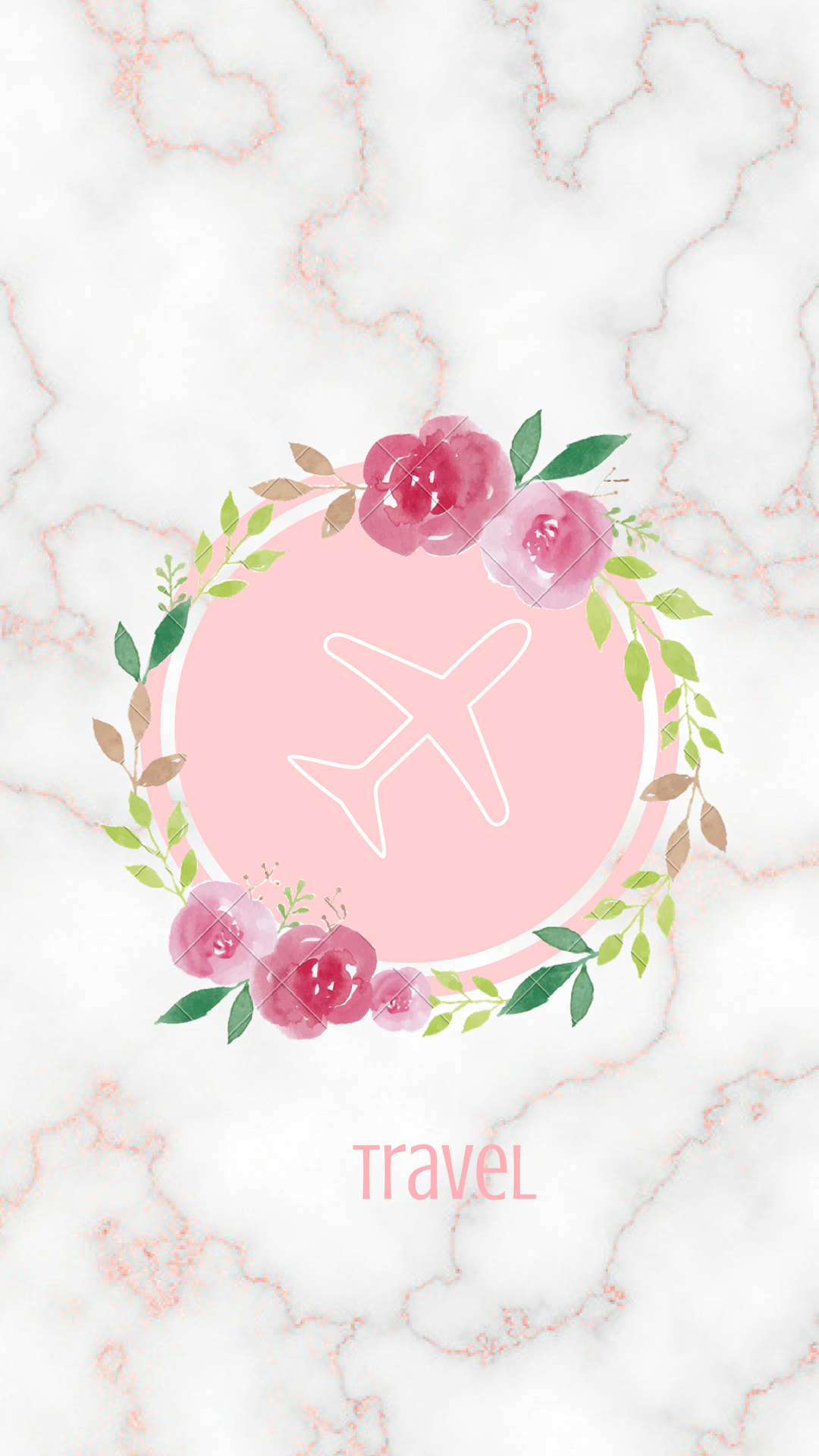 Rose gold marble instagram hightlight cover, created by