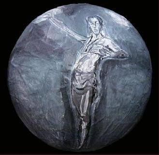 """Dancer""  Oil on Paper Mache Sphere  12"" x 12"" x 12"""