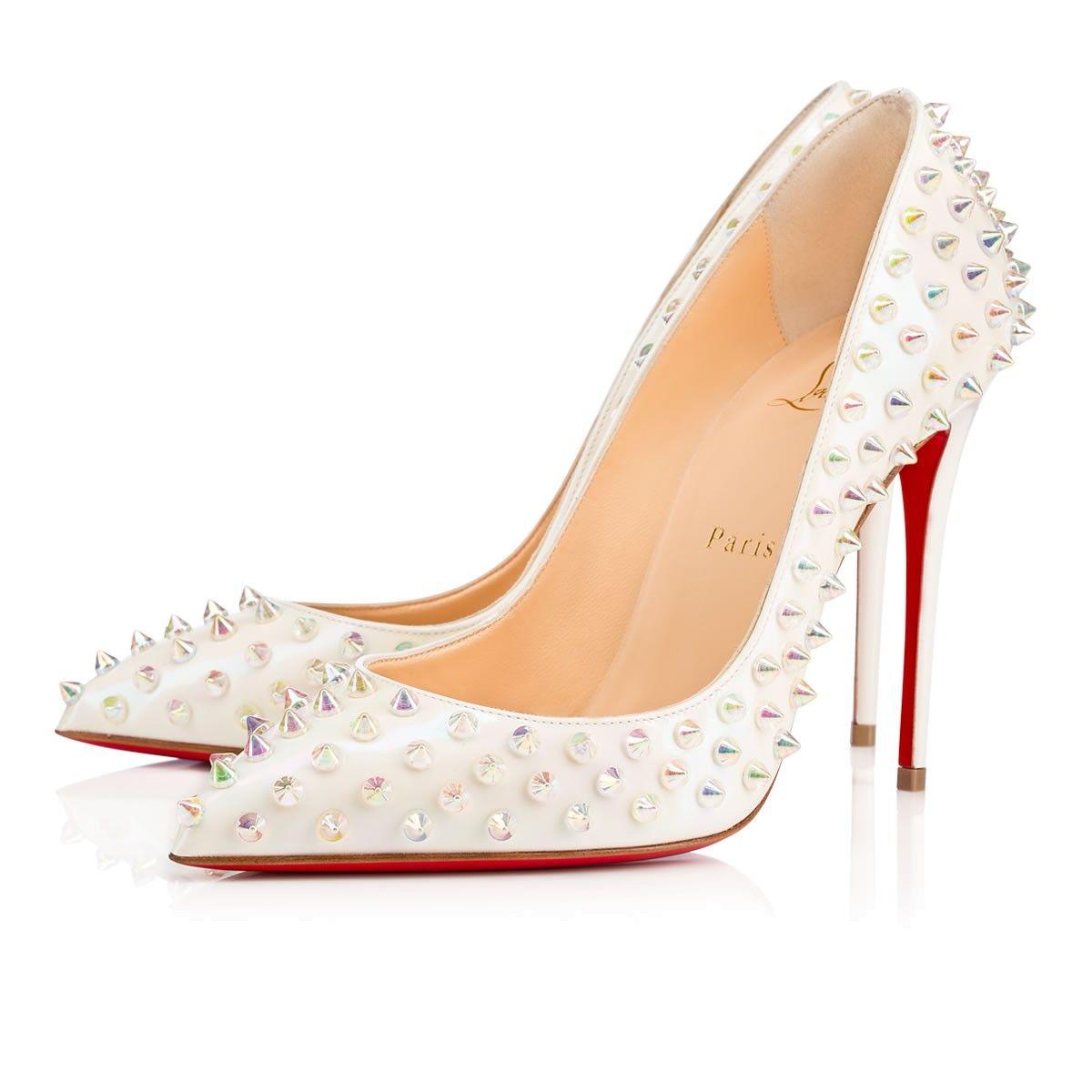77a7b1137da Follies Spikes 100 White Aurora Boreale Clear Aurora Boreale Patent Aurora  Boreale - Women Shoes - Christian Louboutin