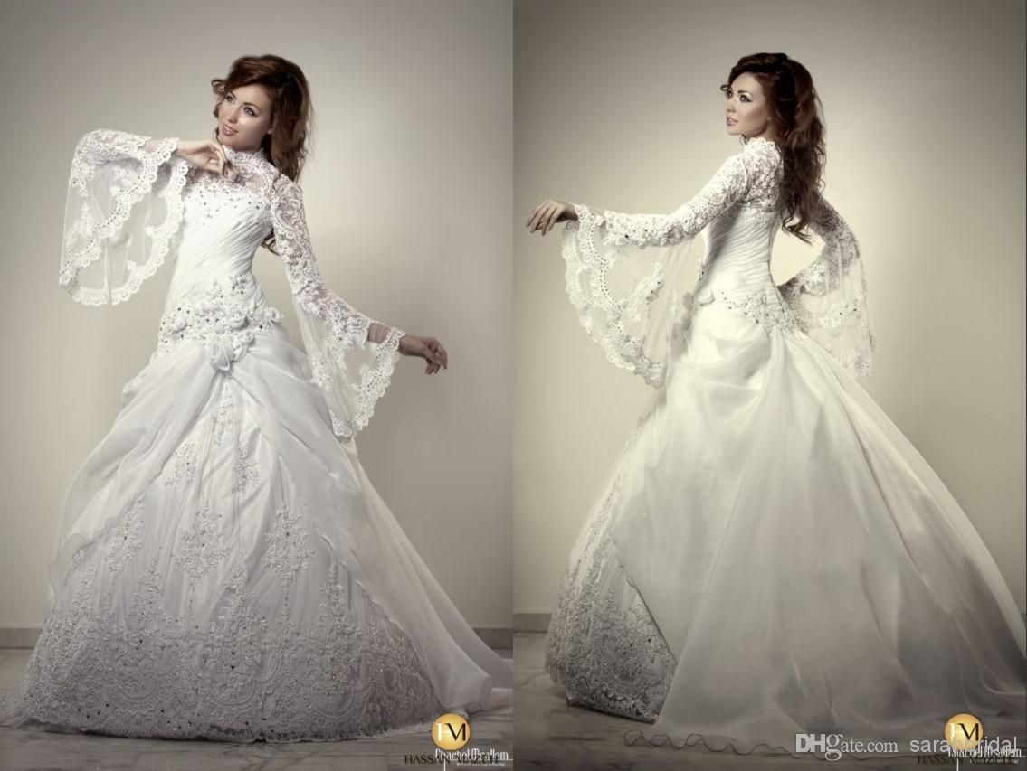 Wholesale wedding veils buy arabic with long sleeves backless