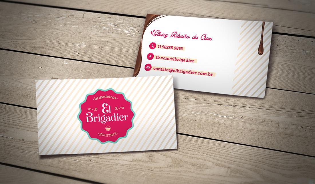 Cartão de visita El Brigadier - Brigadeiros Gourmet | www.nuvemstudio.com