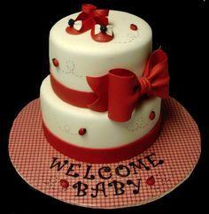 Superior Lady Bug Baby Shower Cake ~CakeArt By Margi Chambers