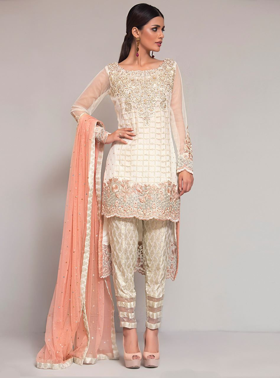 290c9f04247825 Picture of Glorified in pearl Pakistani Party Wear