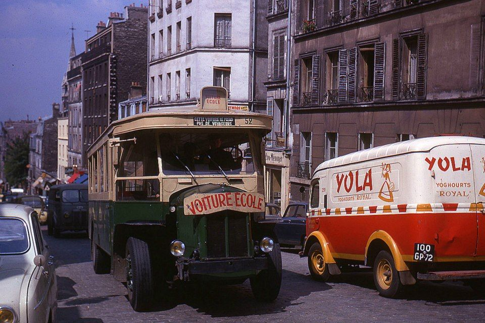 ligne de bus 96 rue de m nilmontant paris 20 me 1964 grandir a paris transports en commun. Black Bedroom Furniture Sets. Home Design Ideas