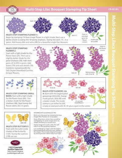Tutorial Tuesday and May Release Multi-Step Lilac Blossoms and Sympathy Grand Handwritten Sentiments | JustRite Papercraft Inspiration Blog