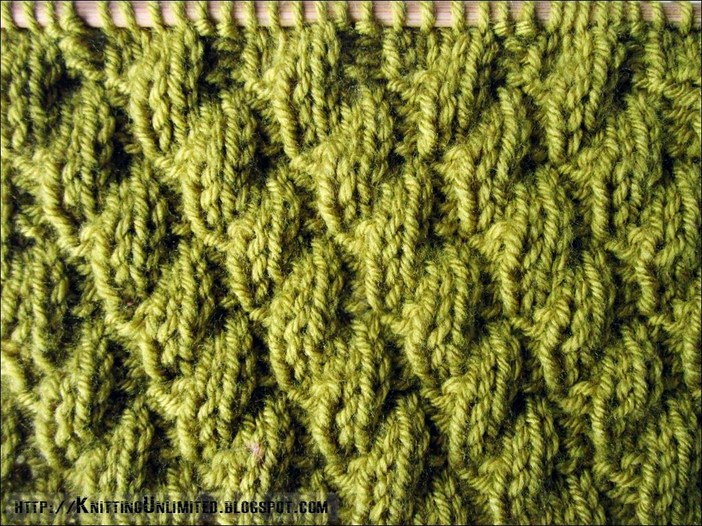 Knit-Purl Combinations: Diagonal Pattern 2 | | | knittingunlimited ...