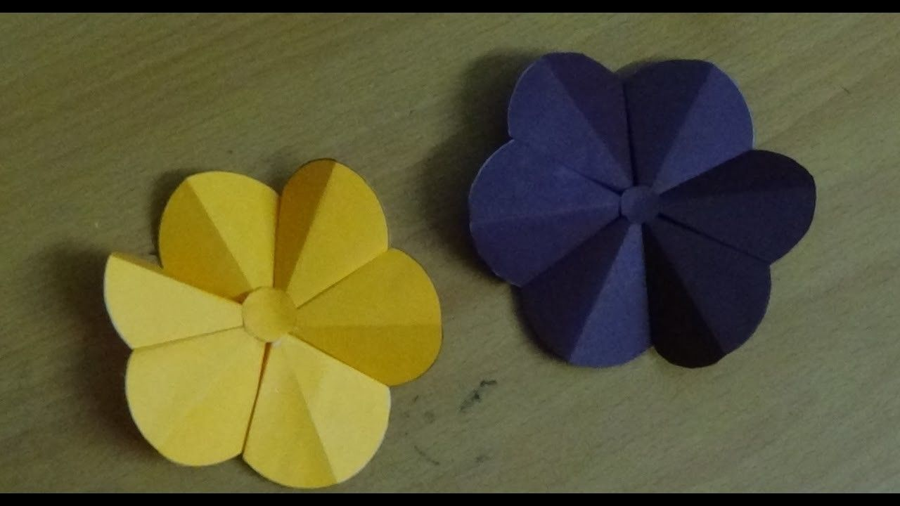 Easy Crafts For Beginners How To Make Origami Flower Simple