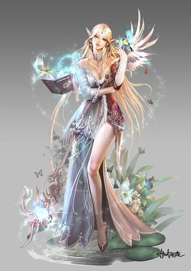 Elven Mage Fantasy Art