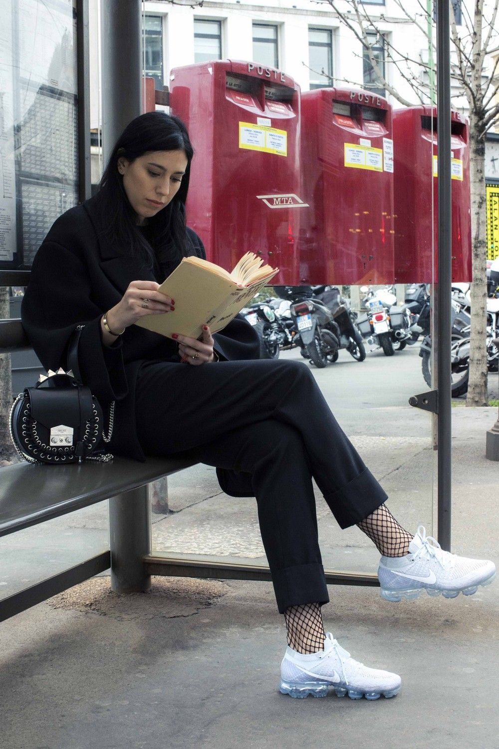 Francesca wearing the Nike Air Vapormax Platinum