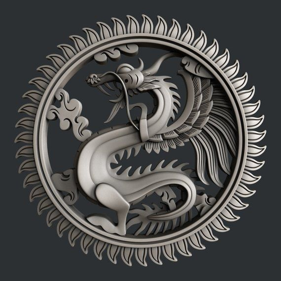 3d STL models for CNC Dragon Cnc, Stl file format, Dragon