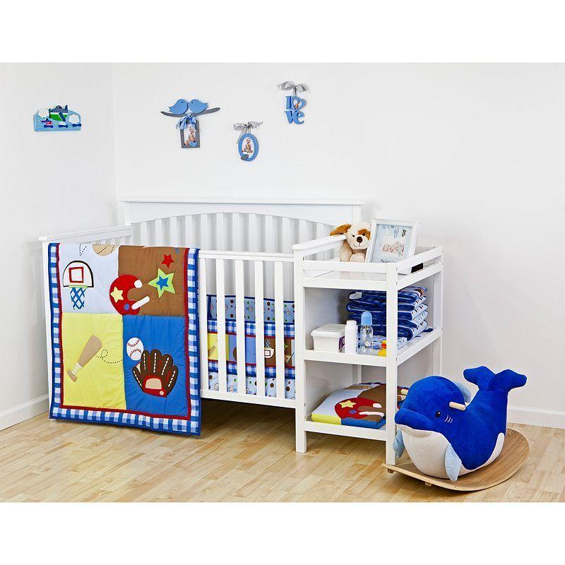 Dream On Me 2 Pc All Star Athlete Crib Bedding Set Crib Bedding Sets Cribs Baby Bedding Sets