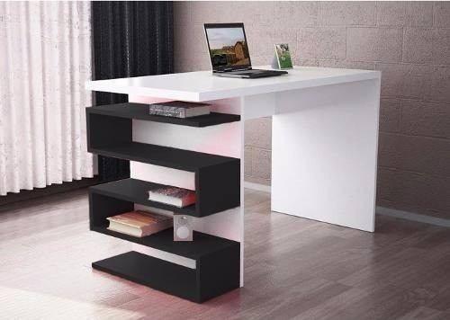 Escritorio y repisa flotante mesa moderno minimalista for Muebles para computadora office depot