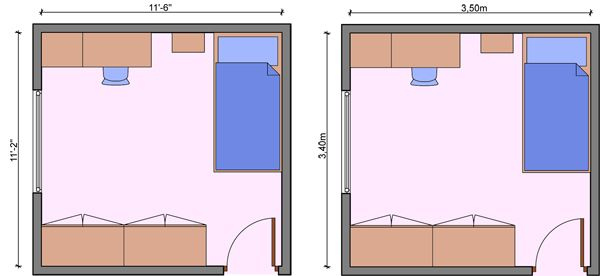 Kids Bedroom Measurements, Children Room Dimensions