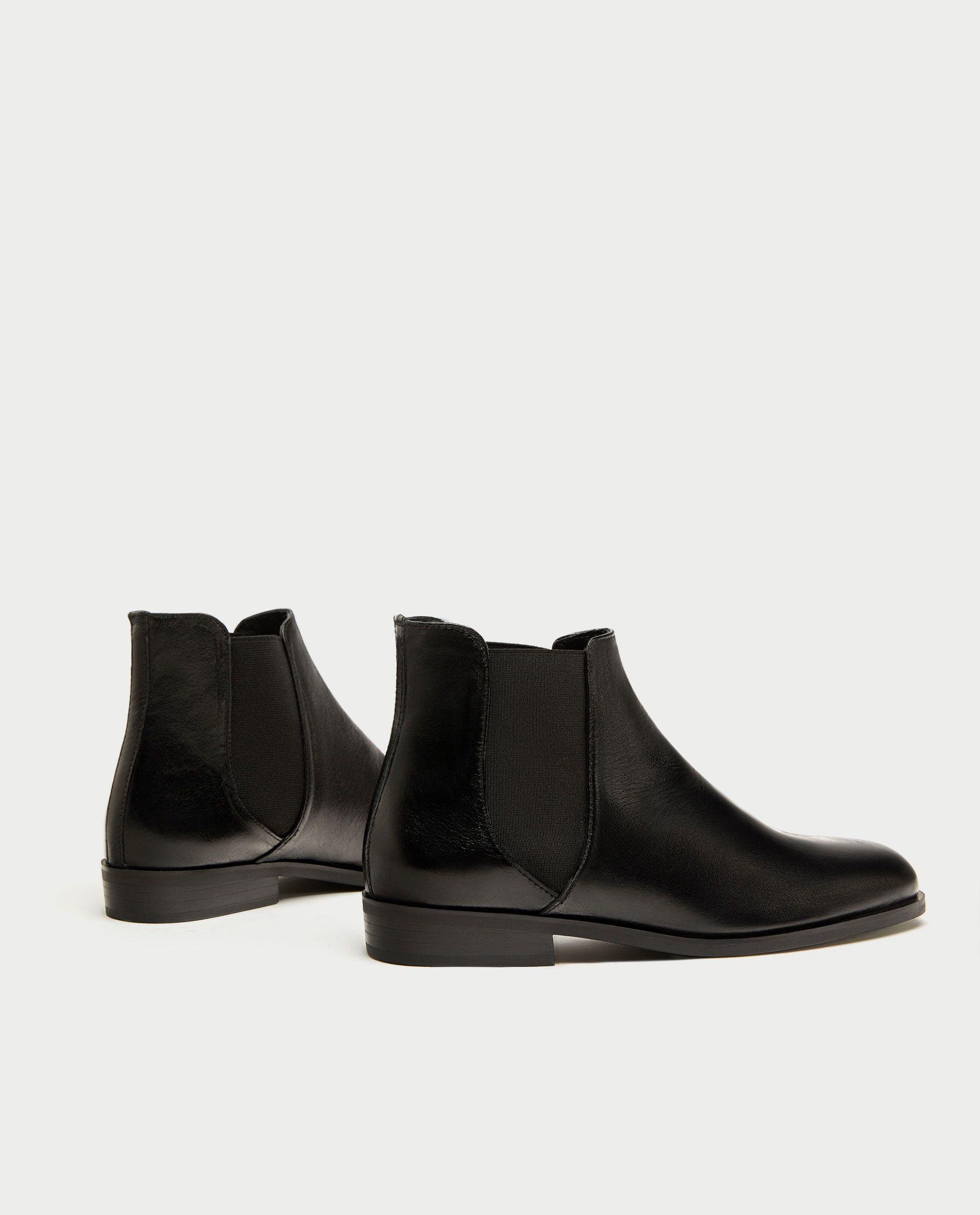 Mujer Office elástica elástico V Front   Zapatos  Front Cuero Negro Planos 33b84b