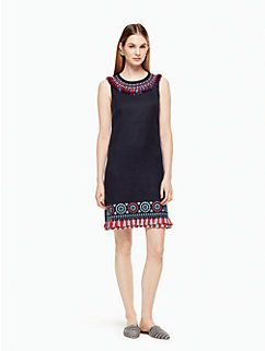 embroidered tassel dress by kate spade new york