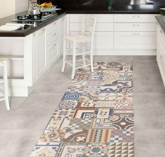 Current Obsession Patchwork Floor Tiles Kitchen Flooring