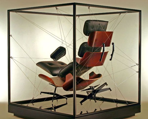 Eames Exploded Lounge Chair Commercial Sculpture Furniture Design Chair Design Contemporary Furniture