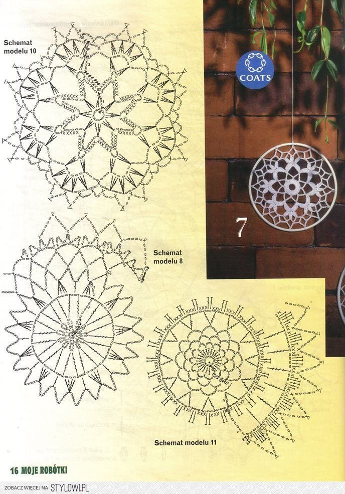 Crochet dream catcher | Crochet | Pinterest | Traumfänger, Deckchen ...