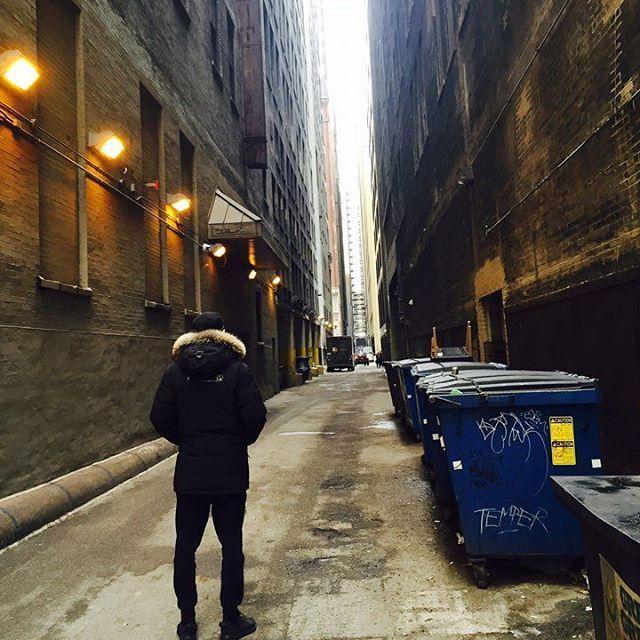 #Chanyeol IG : 나와라 스파이더맨 #Chicago