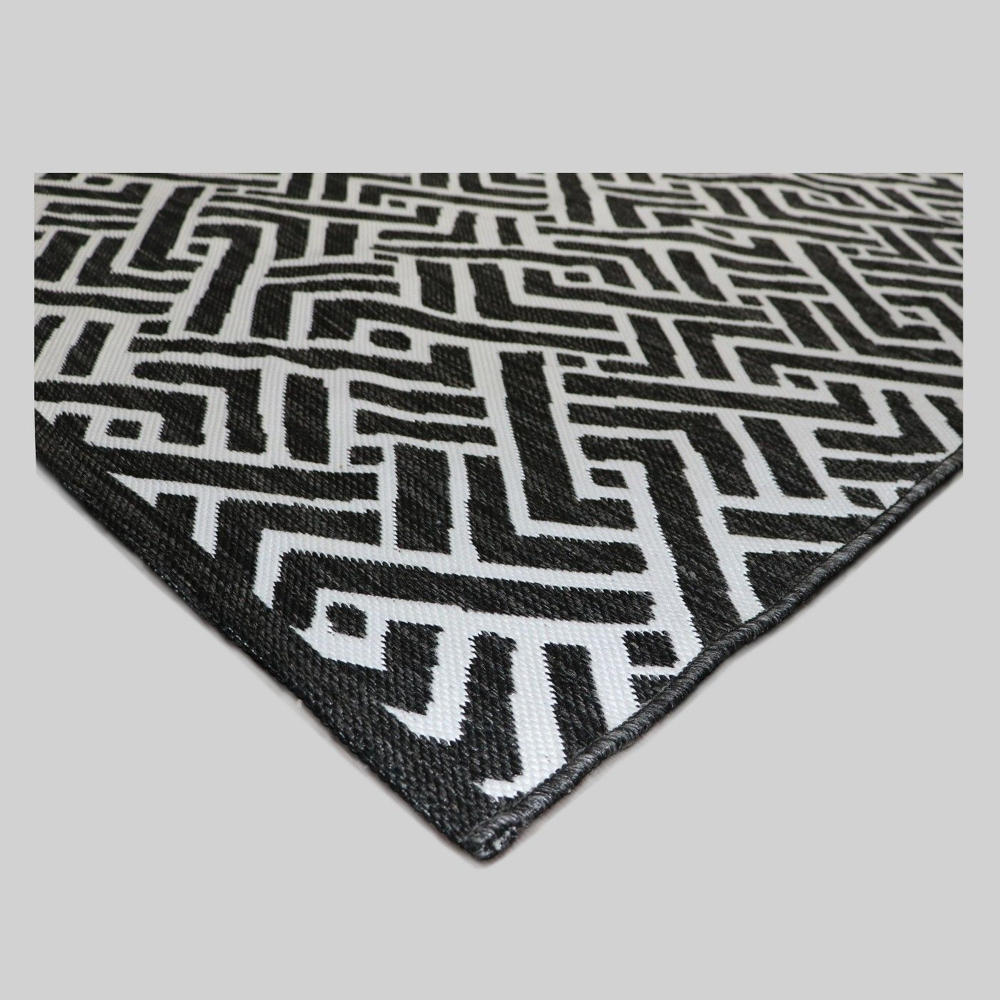 Black Global Weave Outdoor Rug Threshold™ image 2 of 2