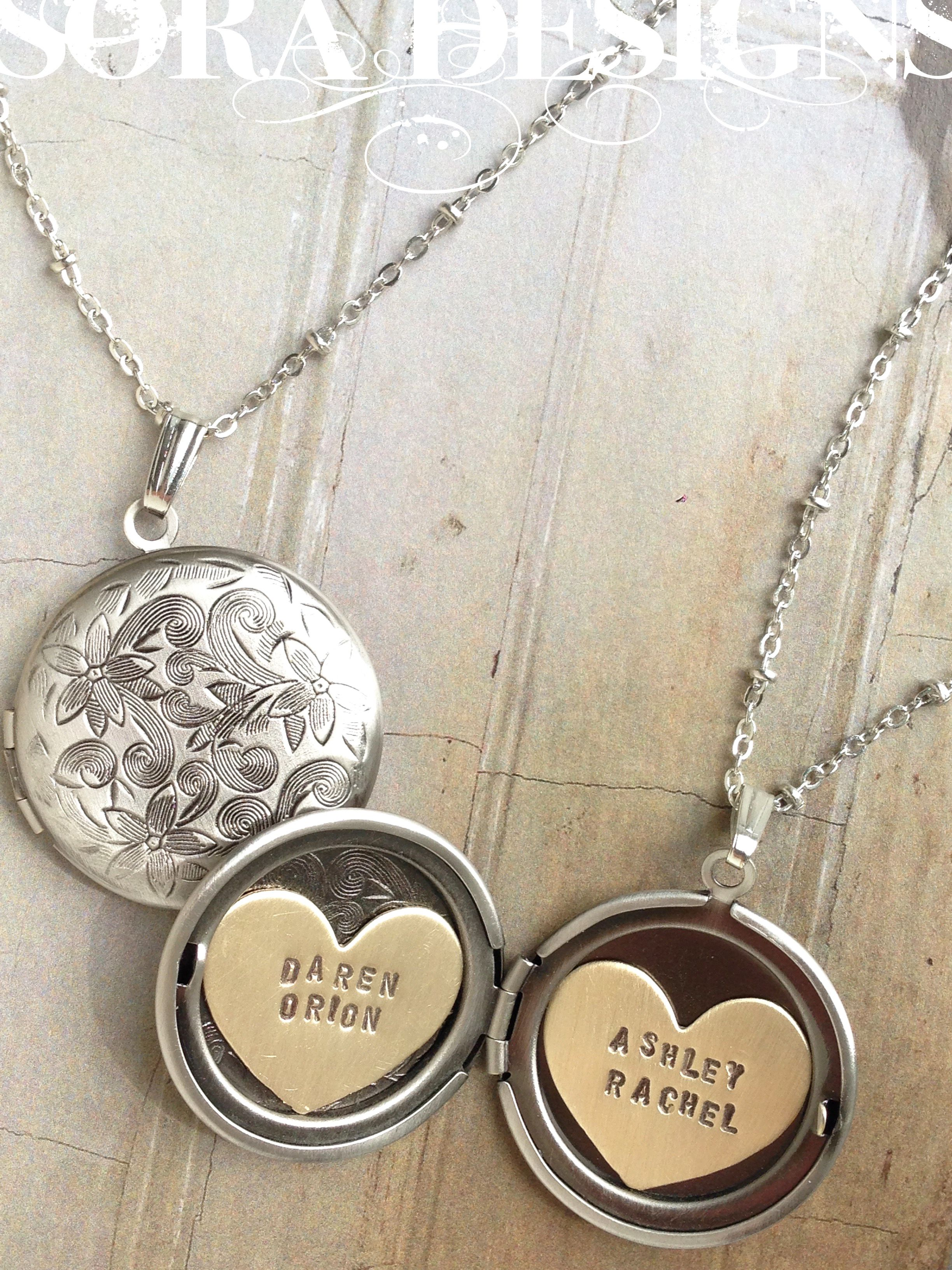 papier products silhouette mother kid child necklace lockets le studio