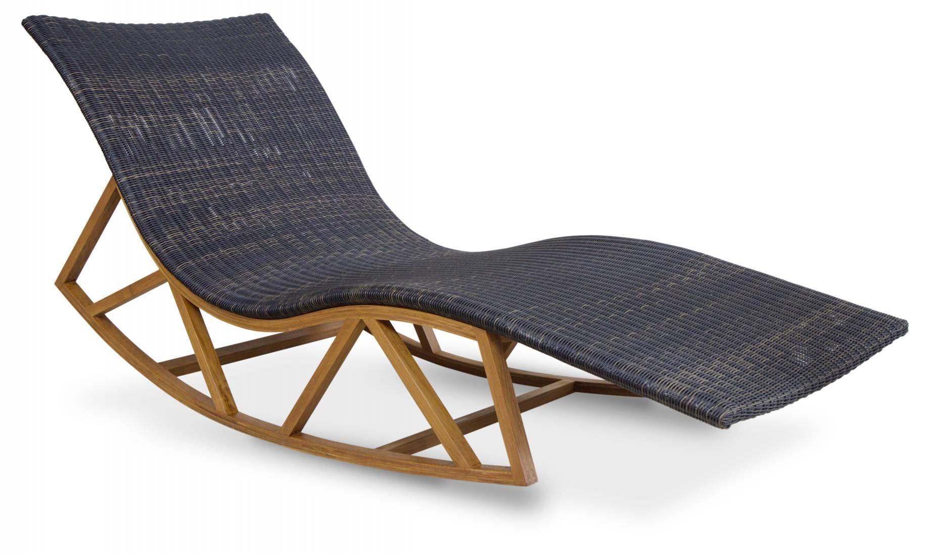 Rattan weave, Teak , onda outdoor rocking lounge chair ...