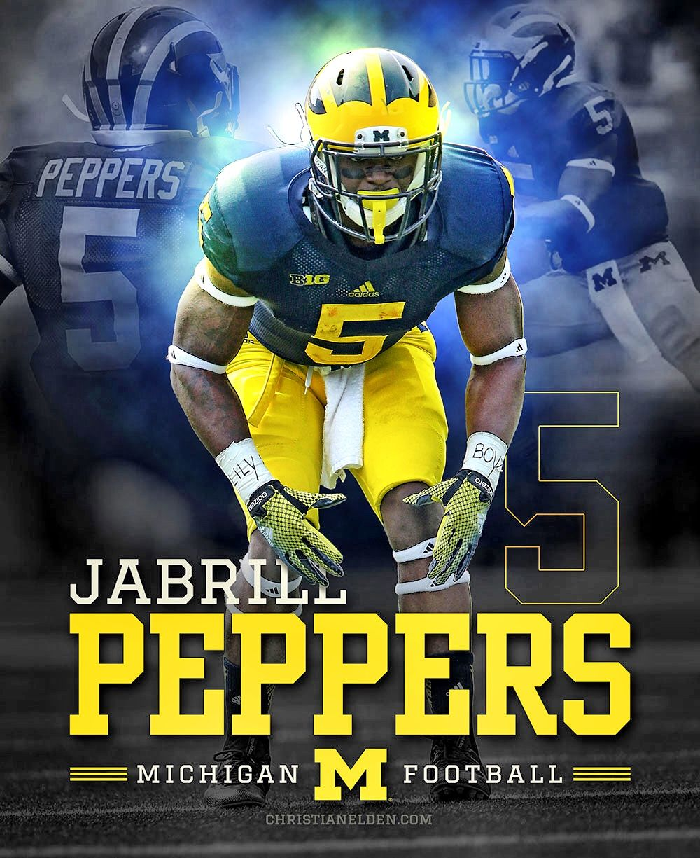 Jabrill Peppers Photoshop Design Christianelden Com The Online Home Of Designer Illustrator Chr Michigan Wolverines Football Michigan Michigan Wolverines