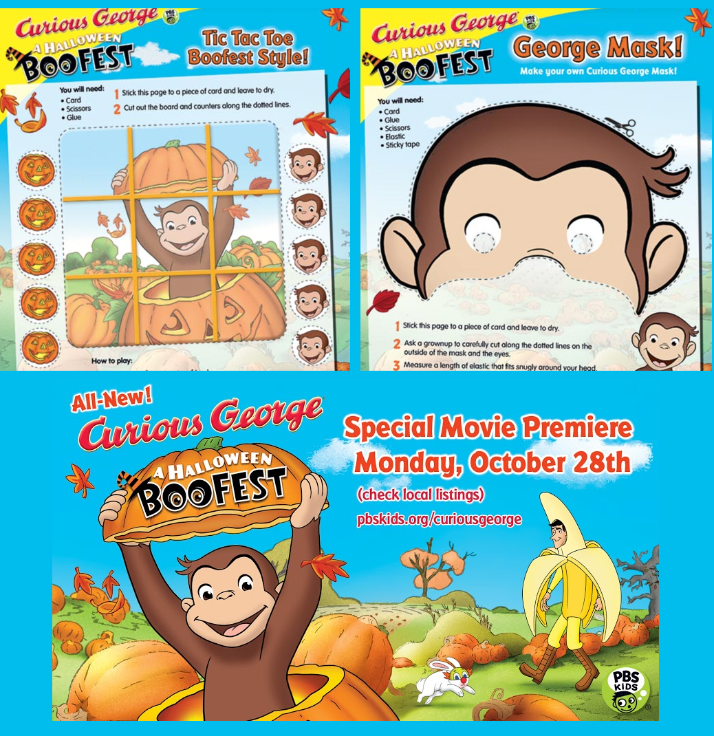 curious george halloween boo fest activity printables