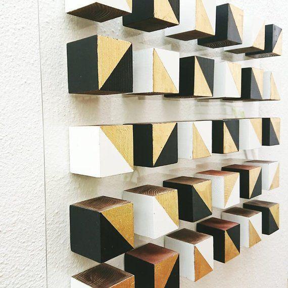 Wood Wall Art C 3d Art Wooden Mosaic Modern Wood Art 3d Etsy In 2021 Wood Wall Art Diy Wood Art 3d Wall Art