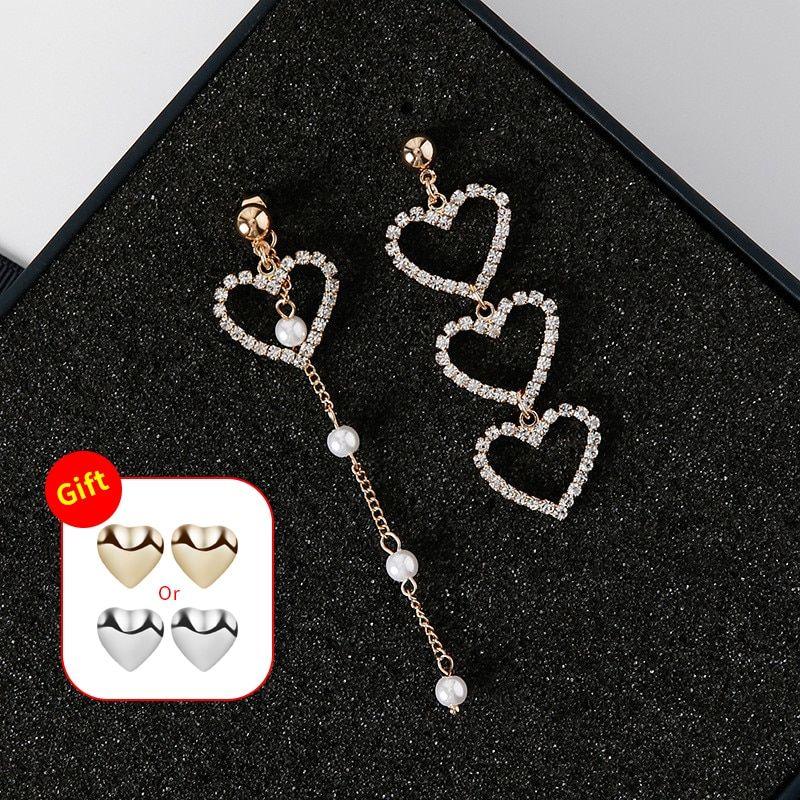 Tassel Jewelry Fashion For Women Drop Earring Chain Earrings Love Heart Metal