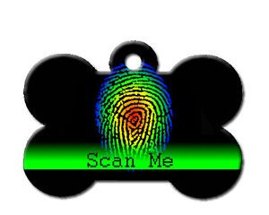 Cute Scan Me I/'m Chipped Pet Dog ID Tag For Collar