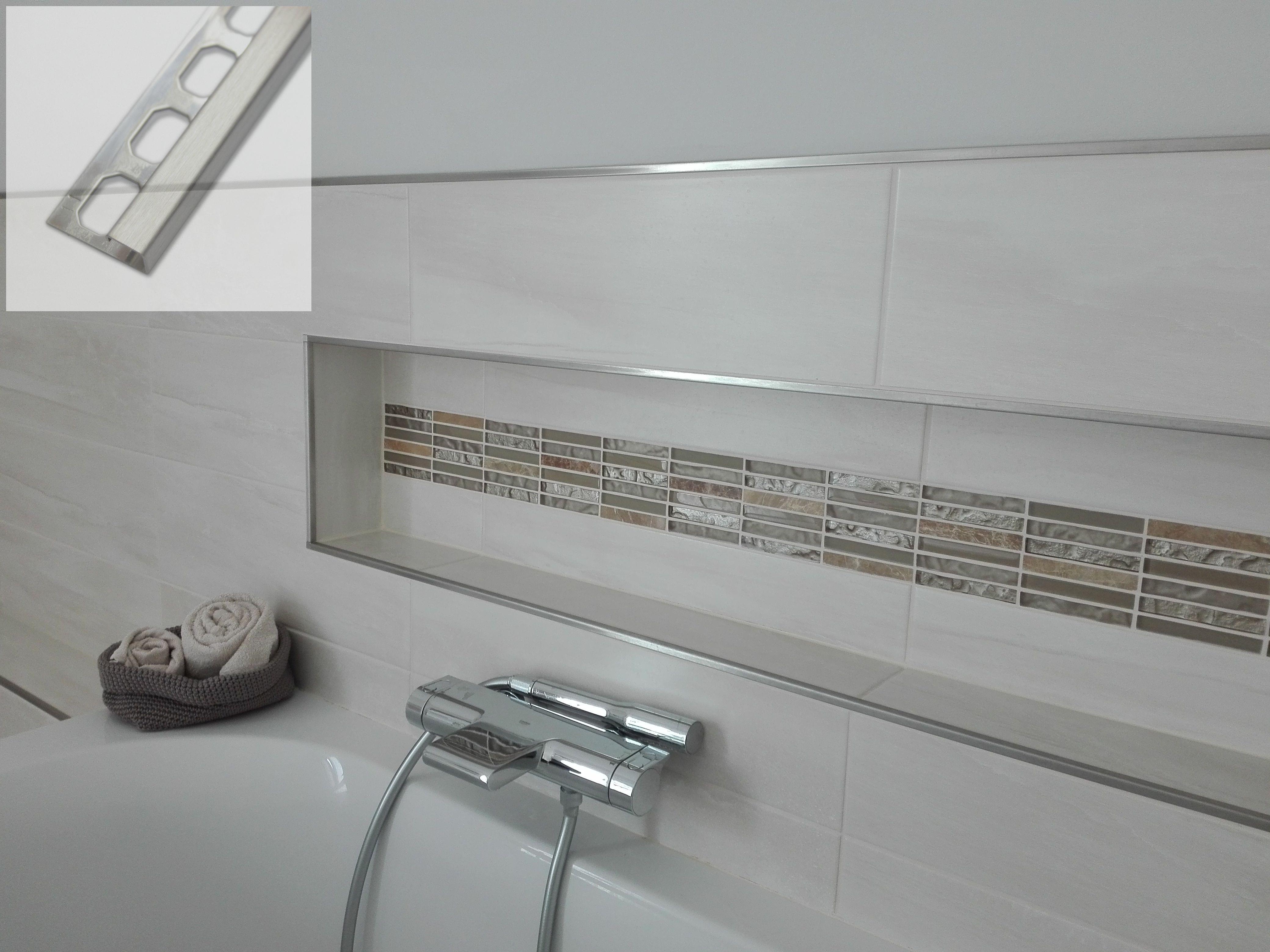 Bei Uns Erhalten Sie Edelstahl V2a Quadroprofile In 2 5m Diese Eignet Sich Zum Sauberen Abschluss Von Wandecken Badezimmergestaltung Badezimmerideen Edelstahl